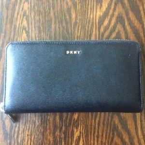 Black leather DKNY wallet
